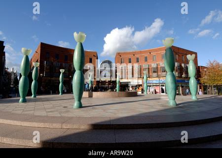 Market Gate Square Warrington Cheshire England UK - Stock Photo