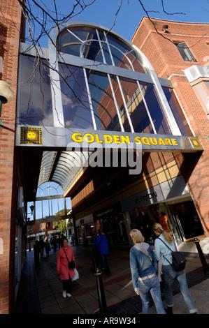 Archway entrance to Golden Square Warrington Cheshire England UK - Stock Photo