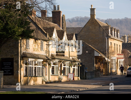 Cotswold stone buildings in the picturesque village of Broadway Worcestershire England UK - Stock Photo