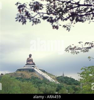 Worlds Largest Buddha, Po Lin Monastery, Hong Kong, China - Stock Photo