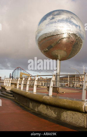 Blackpool Lancashire England South Promenade Sculpture They Shoot Horses Dont They - Stock Photo