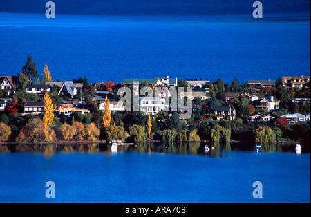 Kelvin Peninsula and Lake Wakatipu Queenstown South Island New Zealand - Stock Photo