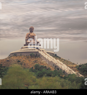 Worlds Largest Buddha, Hong Kong  PRC Peoples Republic of China Asia Chinese - Stock Photo