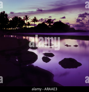 Hawaiian Lagoon Sunrise - Stock Photo