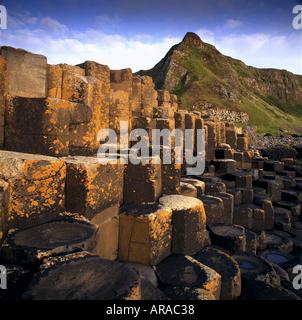 Hexagonal shaped rocks Giants Causeway in County Antrim