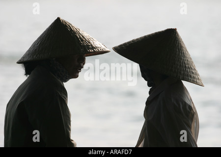 Women in Vietnamese Hats Cut Sugarcane for Sale on the Streets Hanoi ... d9dc479e7ad