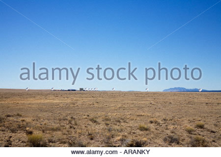 Very large array national radio astronomy observatory antennas - Stock Photo