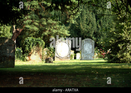 Graveyard of St Martins Church in Eynsford Kent - Stock Photo
