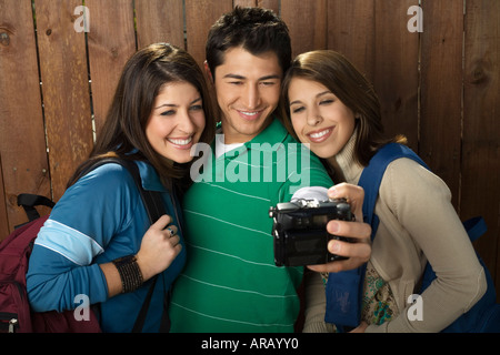 Friends Taking Picture - Stock Photo
