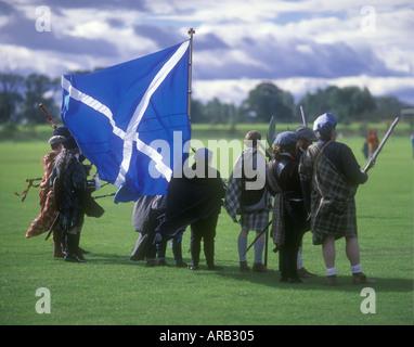18th century Scottish soldiers re enactment of the Battle of Prestonpans 1745 East Lothian Scotland - Stock Photo