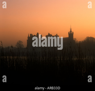 Linlithgow Palace at dawn Linlithgow West Lothian Scotland - Stock Photo