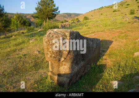 Hittite sculptures in Yesemek Village historical open air sculpture museum Gaziantep Turkey - Stock Photo