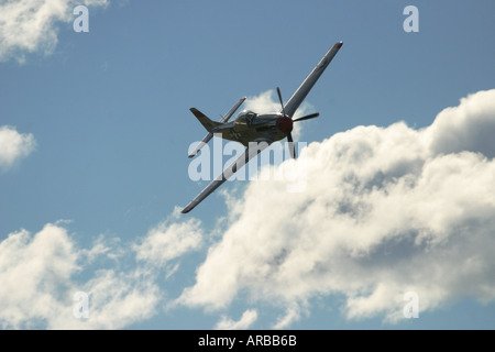 P 51 Mustang Fighter Plane - Stock Photo