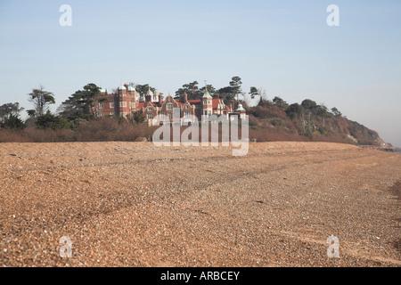 Bawdsey Manor, Suffolk, England viewed from shingle beach - Stock Photo