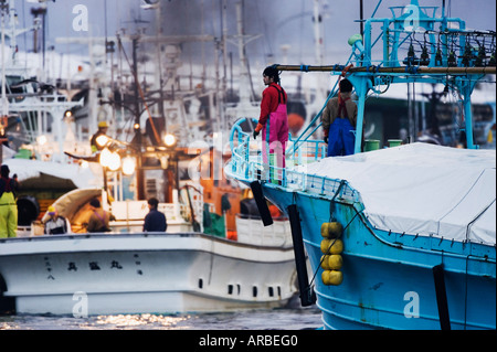 Fishing Harbor, Rausu, Hokkaido, Japan