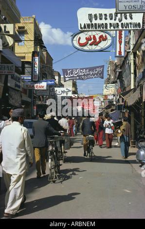Street scene, Lahore, Punjab, Pakistan, Asia - Stock Photo