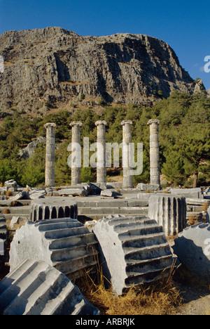 Temple of Athena, Priene, Anatolia, Turkey, Asia Minor, Asia - Stock Photo