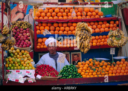 Fruit stall, Luxor, Egypt, North Africa - Stock Photo