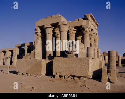 Temple of Sobek and Horus, Kom Ombo, Egypt, North Africa, Africa - Stock Photo