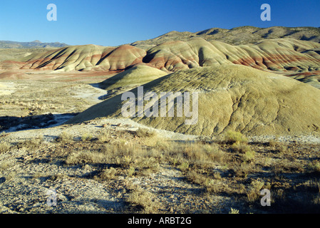 The Painted Hills, John Day Fossil Beds National Monument, Oregon, USA, North America - Stock Photo