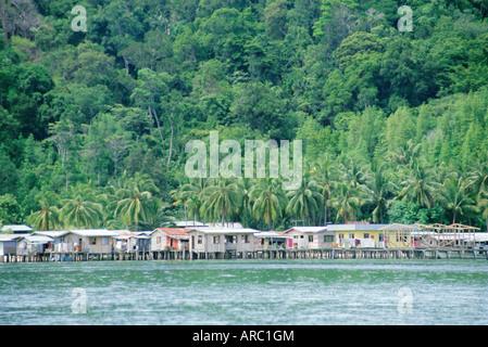 Kota Kinabalu, Sabah, on the island of Borneo, Malaysia - Stock Photo