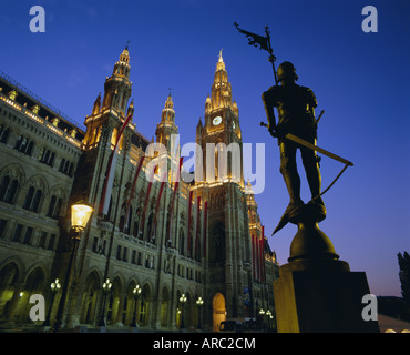 Rathaus (Town Hall), Vienna, Austria, Europe - Stock Photo