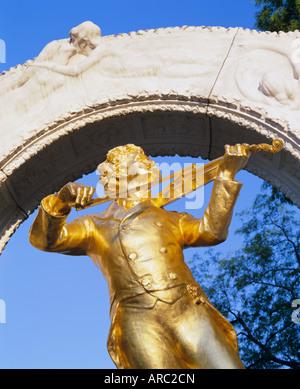 Statue on Strauss monument in Stadt park, Vienna, Austria, Europe - Stock Photo