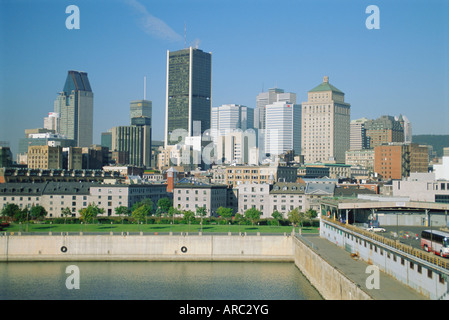 City skyline, Montreal, Quebec Province, Canada - Stock Photo