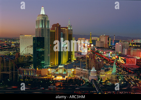 New York, New York Hotel and Casino and the Strip, Las Vegas, Nevada, USA - Stock Photo