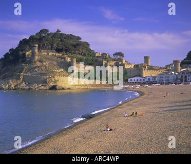 Tossa de Mar, Costa Brava, Catalunya (Catalonia) (Cataluna), Spain, Europe - Stock Photo
