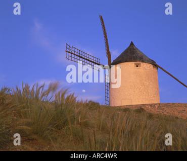 Windmill, Consuegra, Ruta de Don Quixote, Castilla La Mancha, Spain, Europe - Stock Photo
