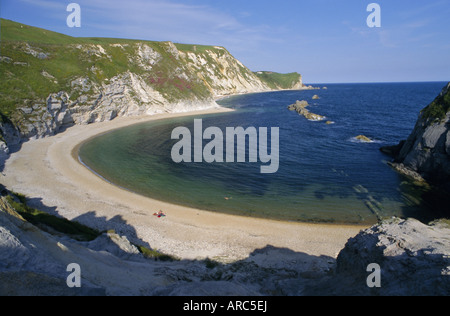Man O'War Cove, between Lulworth Cove and Durdle Door, Dorset, England, UK, Europe - Stock Photo