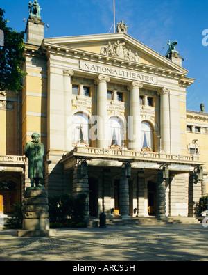 The National Theatre, Oslo, Norway, Scandinavia, Europe - Stock Photo