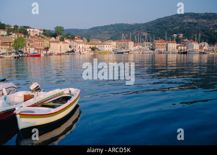 Gaios Harbour, Gaios, Paxos, Ionian Islands, Greece, Europe - Stock Photo