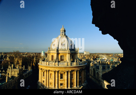 The Radcliffe Camera viewed from the University church, Oxford, Oxfordshire, England, UK, Europe Stock Photo