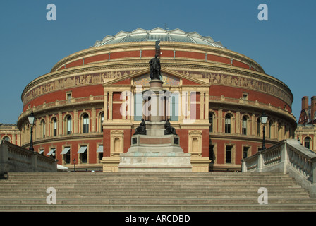 London Royal Albert Hall and South steps leading up to the new South Porch - Stock Photo