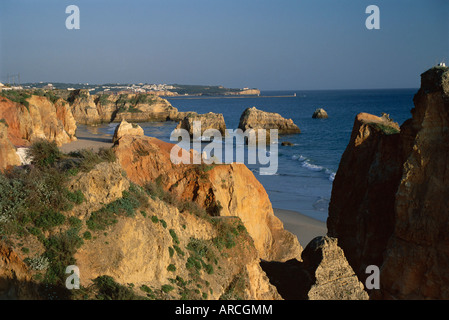 Coastline, Praia da Rocha, the Algarve, Portugal, Europe - Stock Photo