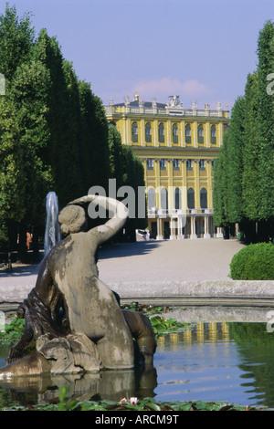 Naiad fountain, Schonbrunn, UNESCO World Heritage Site, Vienna, Austria, Europe - Stock Photo