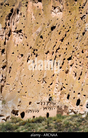 Talus House at Bandelier National Monument, New Mexico - Stock Photo
