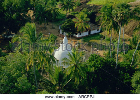 Buddhist site at Mihintale, North Central Province, Sri Lanka, Asia - Stock Photo