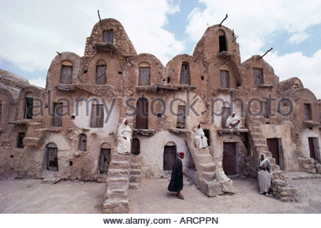Ghorfas, Ksar Ouled Soltane, Tunisia, North Africa, Africa - Stock Photo
