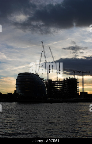 England London the London Assembly Building Site Of The London Authority Parliament Alongside River Thames - Stock Photo