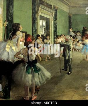 Dance Class 1874 Edgar Degas 1834-1917 France French - Stock Photo