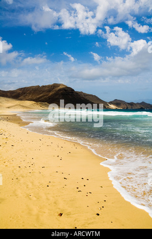 Praia Salamansa, Sao Vicente, Cape Verde Islands, Atlantic Ocean, Africa - Stock Photo