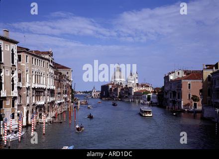 Venedig, Canal Grande, mit Santa Maria della Salute - Stock Photo