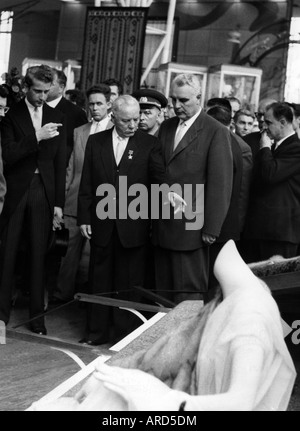 Voroshilow, Kliment, 4.2.1881 - 2.12.1969, Soviet politician, statesman and military commander, half length, with - Stock Photo