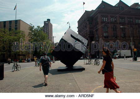 Alamo sculpture in Astor Place in the East Village in NYC - Stock Photo