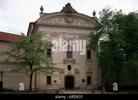 Prag, Kloster Strahov, Bibliothek, Fassade - Stock Photo