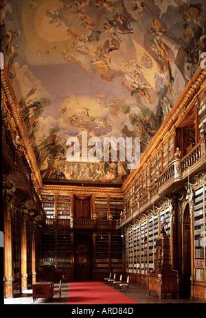 Prag, Kloster Strahov, philosophische Bibliothek - Stock Photo