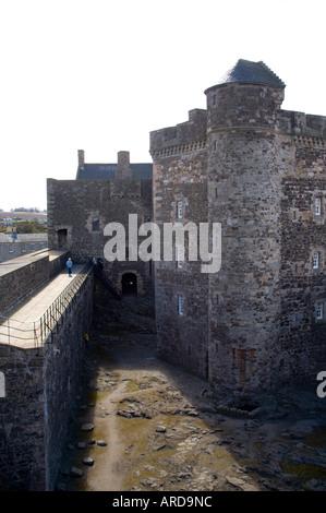 Blackness Castle West Lothian Scotland former prison and munitions store on the south bank of the River Fort - Stock Photo